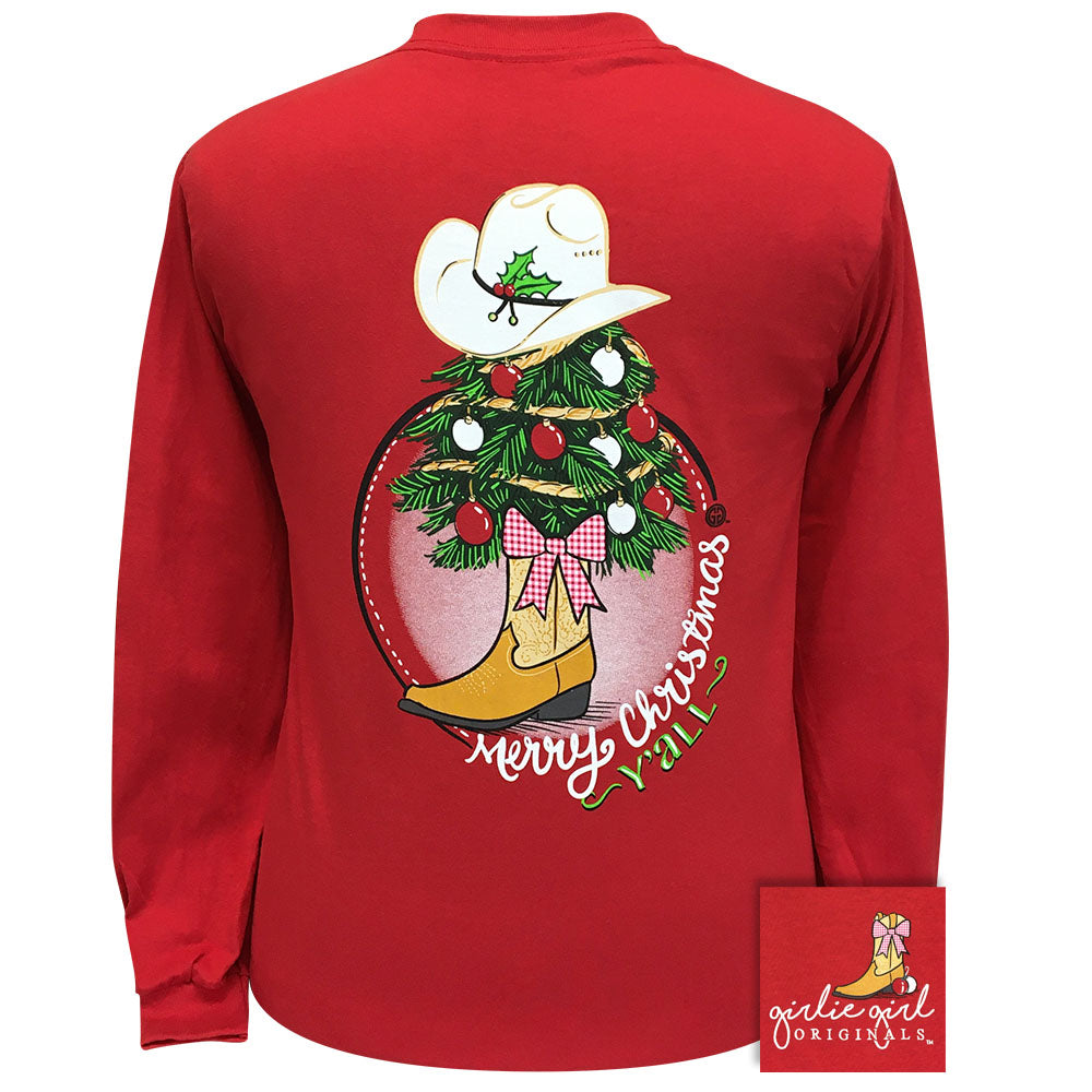 Christmas Tree Boots Red Long Sleeve 2320