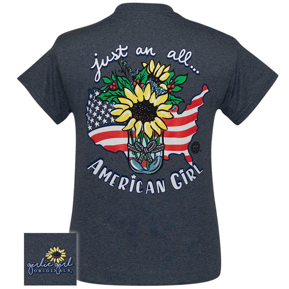 Sunflower American Girl Heather Navy SS-2359