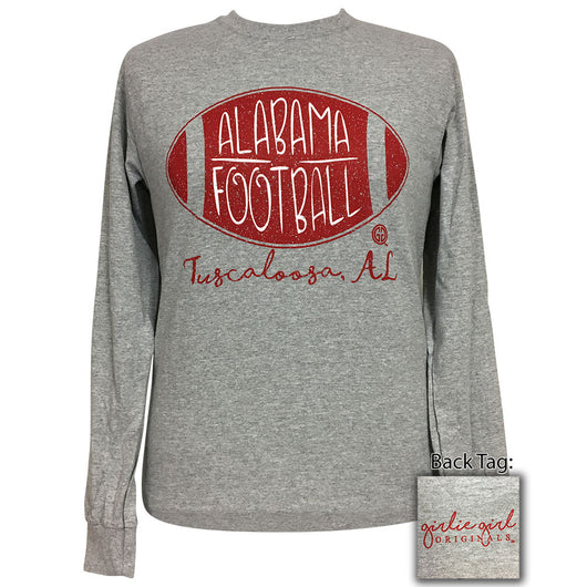 Alabama Football Sports Grey Long Sleeve T-Shirt