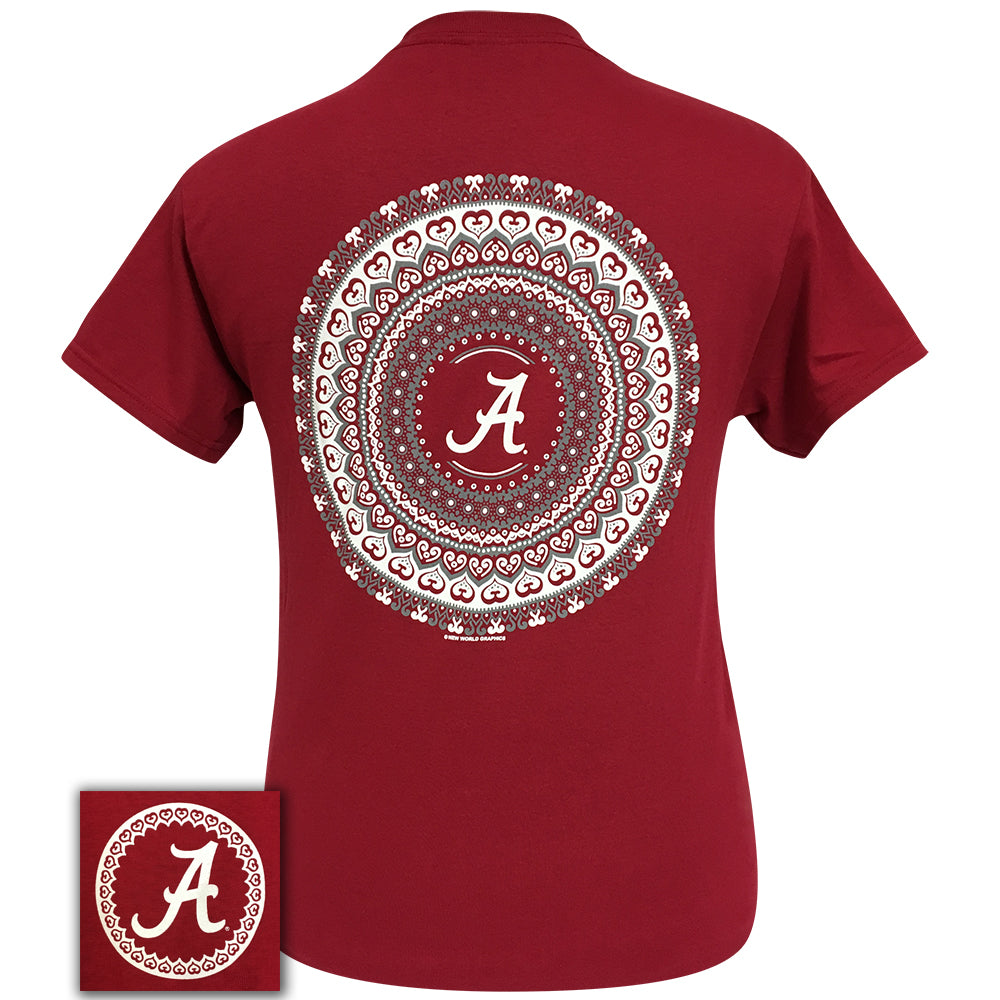 Alabama Mandala Cardinal Short Sleeve