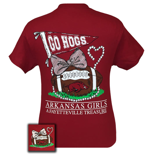 Arkansas Treasure Cardinal Red Short Sleeve