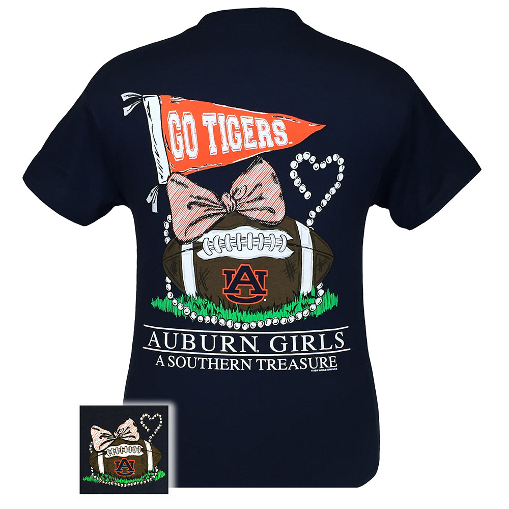 Auburn Treasure Navy Short Sleeve