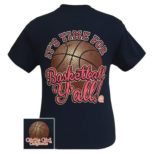Basketball Y'all - Navy Short Sleeve