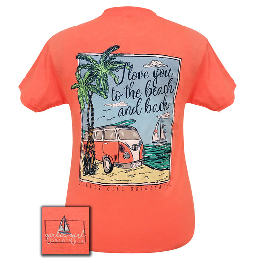 Beach and Back Retro Heather Coral Short Sleeve