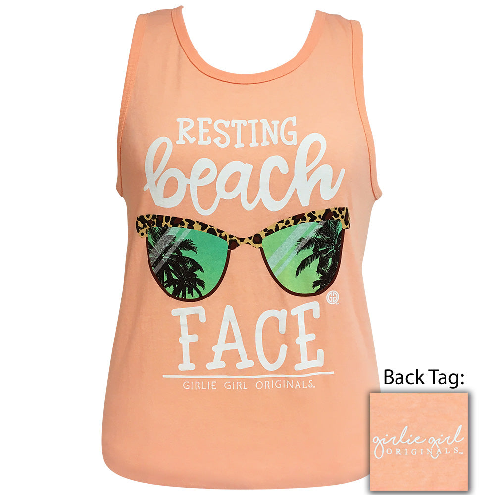 Beach Face Tank Mango Heather