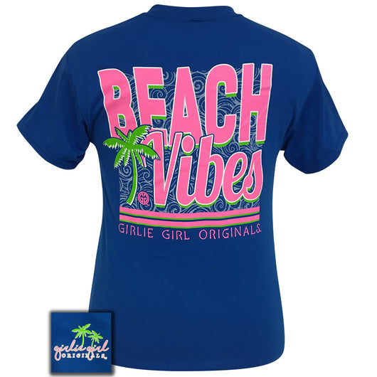 Beach Vibes Neon Blue Short Sleeve