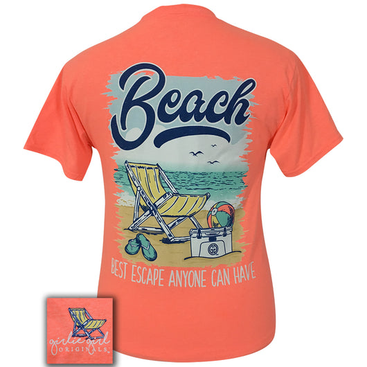 Best Escape Retro Heather Coral Short Sleeve Tee