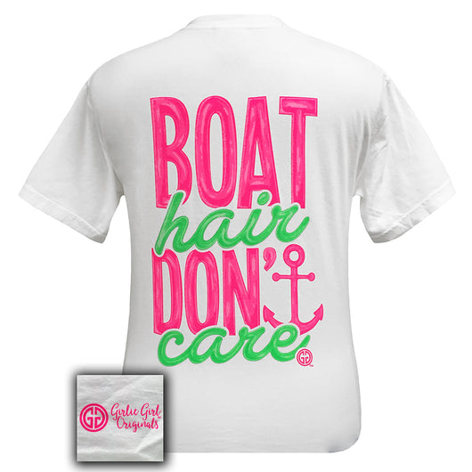 Boat Hair Comfort Color White Short Sleeve