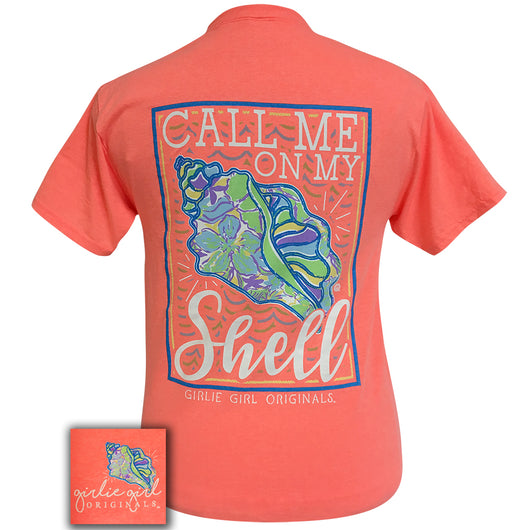 Call Me Retro Heather Coral Short Sleeve Tee