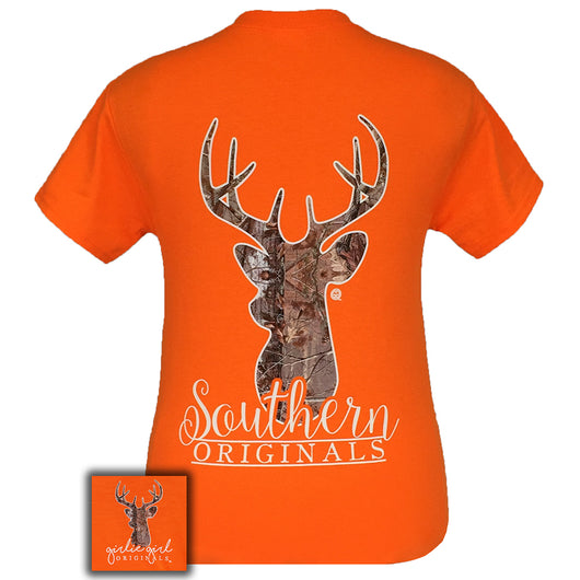 Camo Deer Safety Orange Short Sleeve