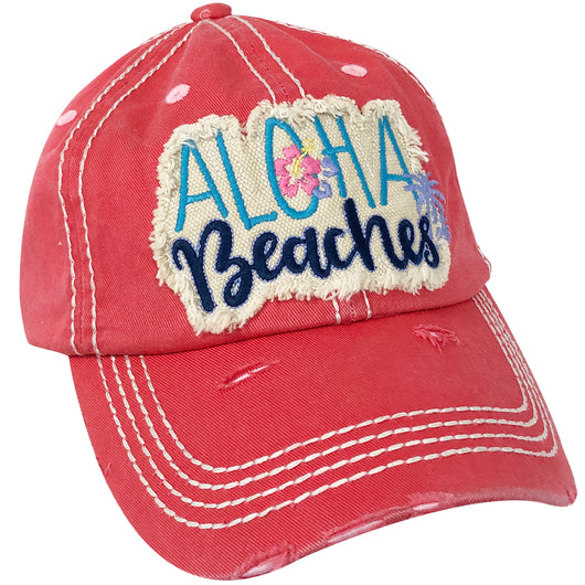 KBV-1199 Aloha Beaches Cap Hot Pink