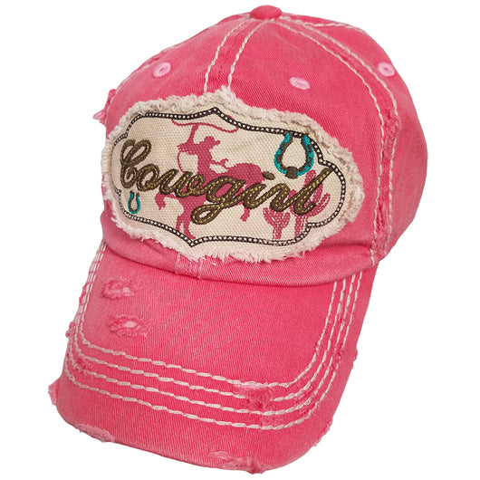 KBV-1146 Cowgirl Cap Hot Pink