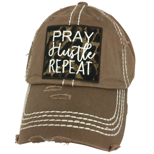 KBV-1174 Pray Hustle Repeat Brown