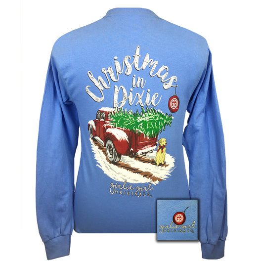 Christmas in Dixie Carolina Blue Long Sleeve