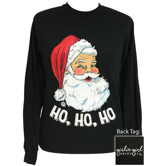 Classic Santa Black Long Sleeve