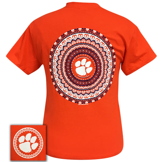 Clemson Mandala Orange Short Sleeve