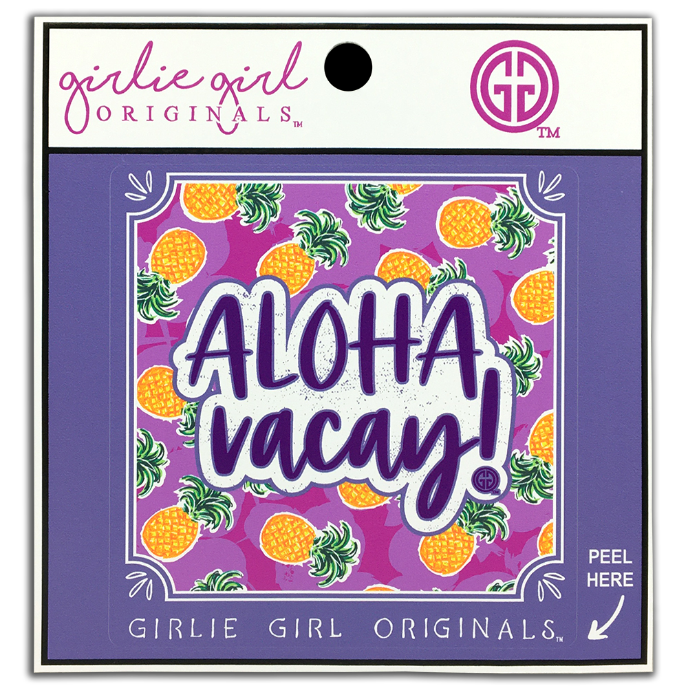 Aloha Vacay Decal/Sticker