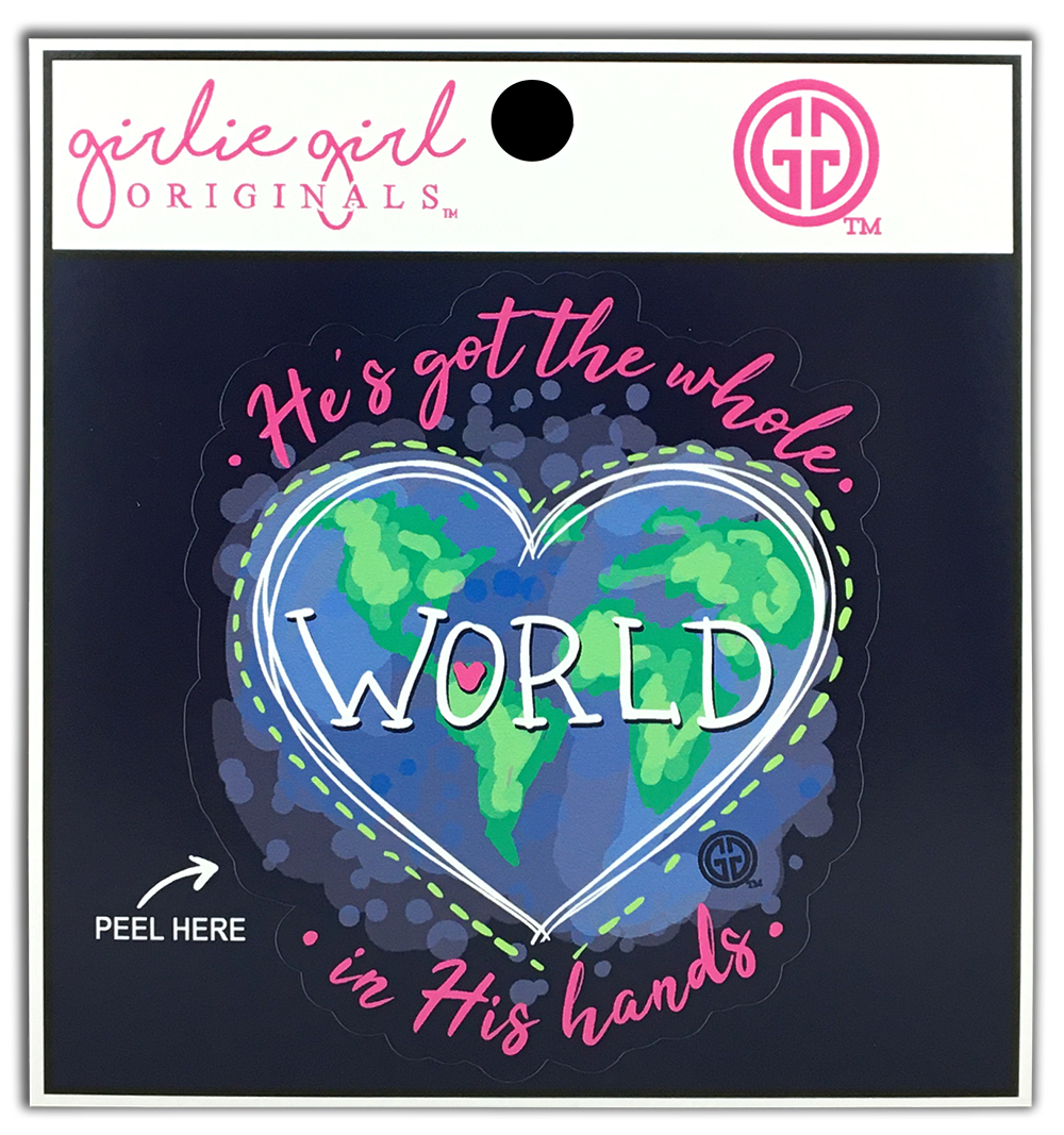Decal/Sticker-2295 World In His Hands