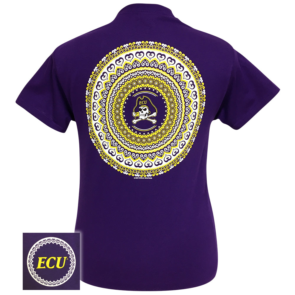 East Carolina Mandala Purple Short Sleeve