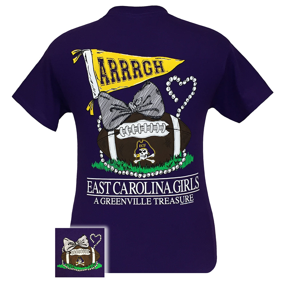 East Carolina State Treasure Purple Short Sleeve