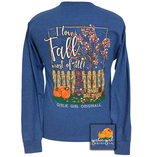 Fall Retro Heather Royal Long Sleeve
