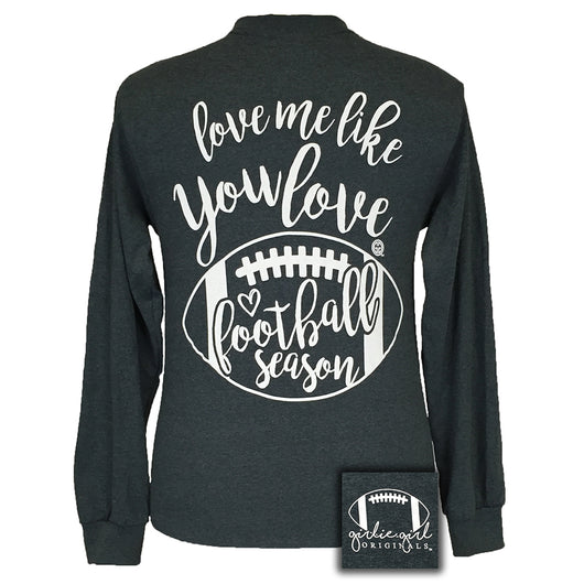 Football Season Dark Heather Long Sleeve