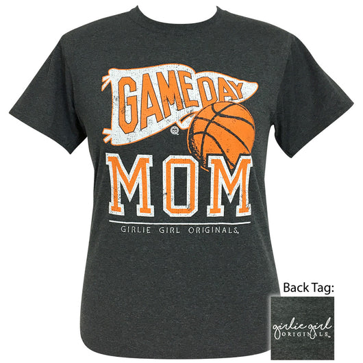 Game Day Mom Basketball Black Heather Short Sleeve