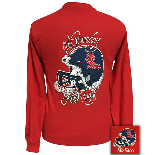 Gameday Ole Miss Red Long Sleeve