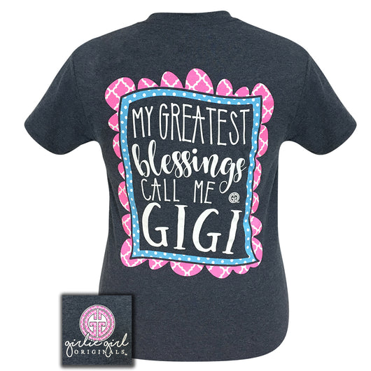 Gigi Heather Navy Short Sleeve