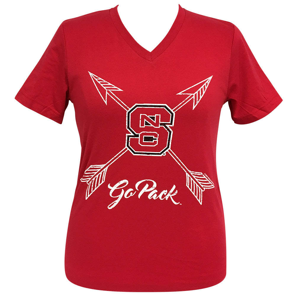 Arrows Go Pack NC State Short Sleeve V-Neck Tee