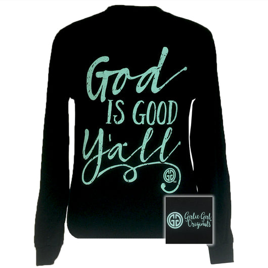 God is Good Y'all Black Long Sleeve