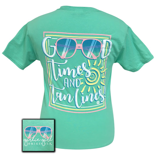 Good Times Tan Lines Cool Mint Short Sleeve