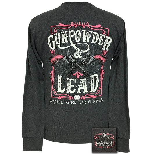 Gunpowder and Lead 2 Black Heather Long Sleeve