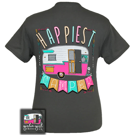 Happiest Camper Charcoal Short Sleeve