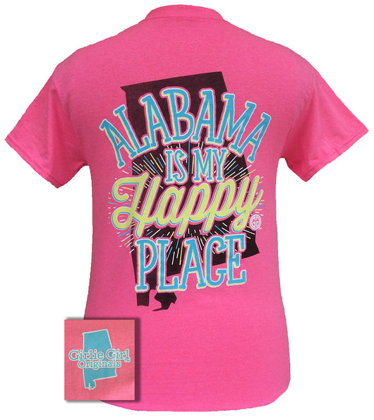 Alabama is my Happy Place Safety Pink
