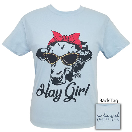 Hay Girl Light Blue Short Sleeve