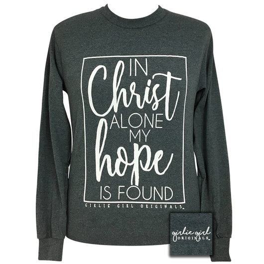 In Christ Alone Dark Heather Long Sleeve