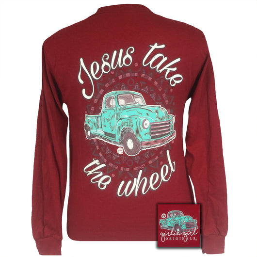 Jesus Take the Wheel Cardinal Red Long Sleeve