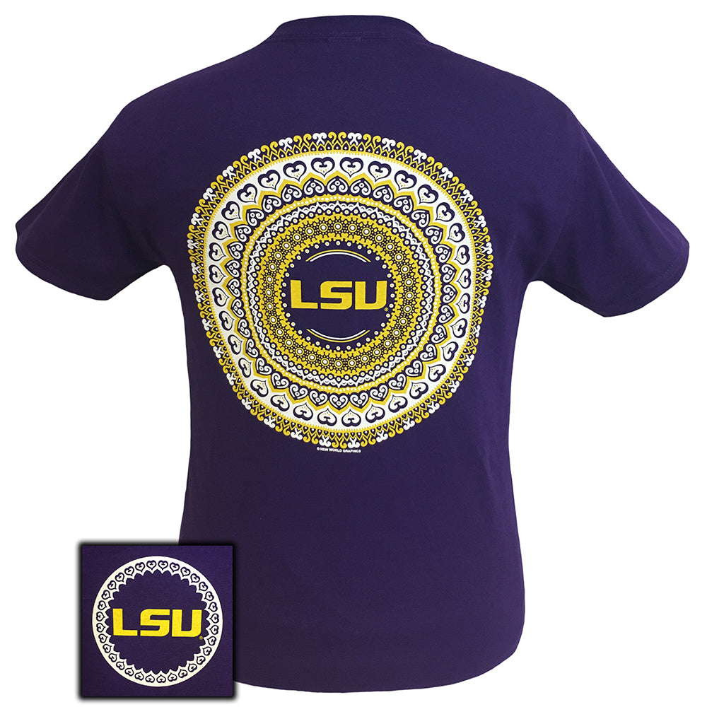 LSU Mandala Purple Short Sleeve