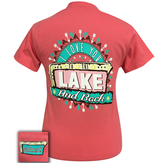 Lake and Back Coral Short Sleeve Tee
