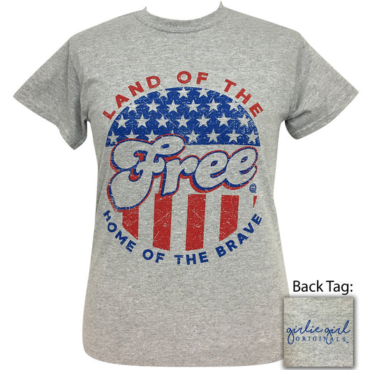 Land of the Free Sport Grey Short Sleeve Tee