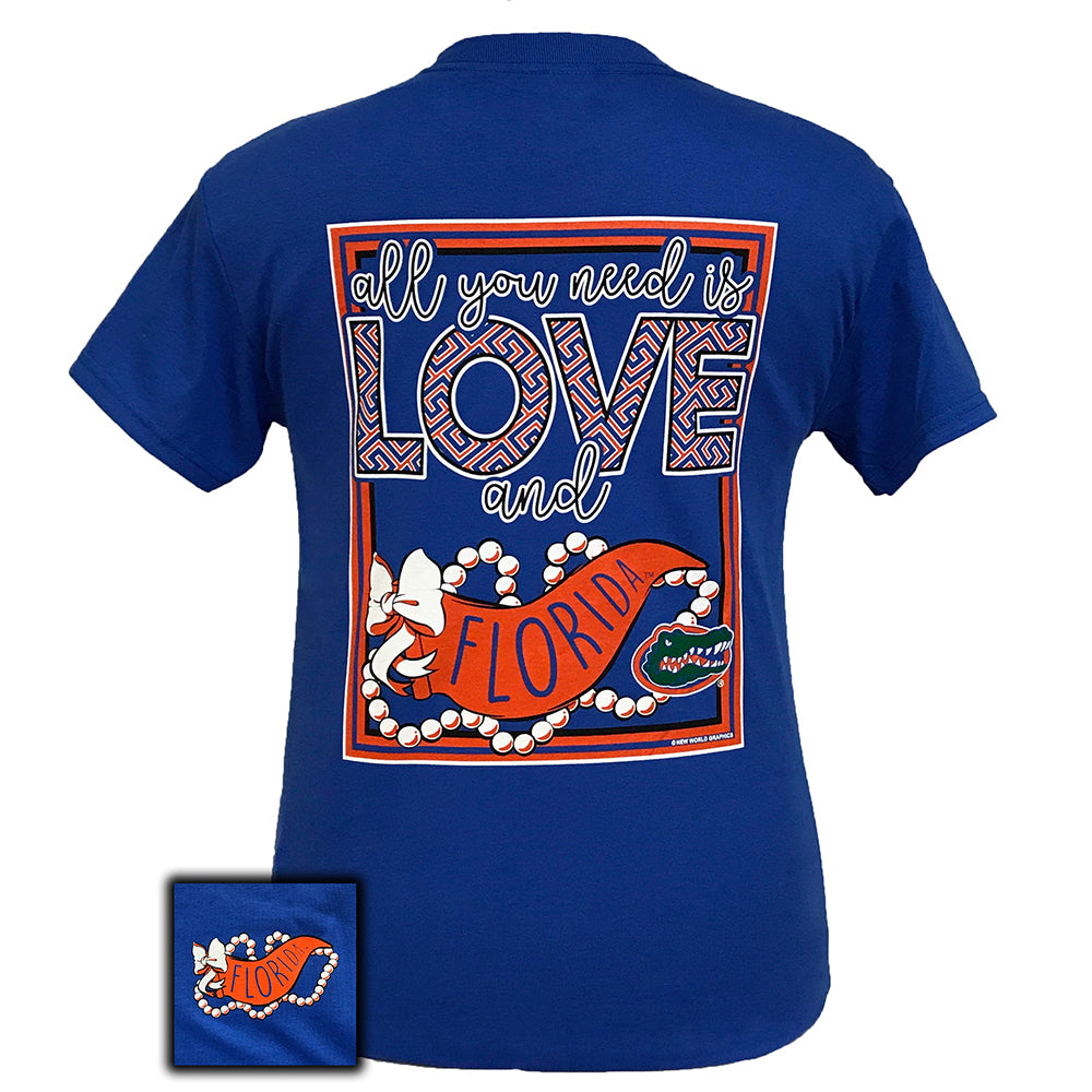All You Need Is Love and Florida Gators Royal Short Sleeve