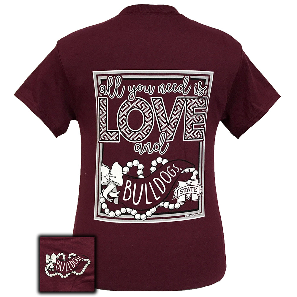 All You Need Is Love and MSU Short Sleeve Maroon