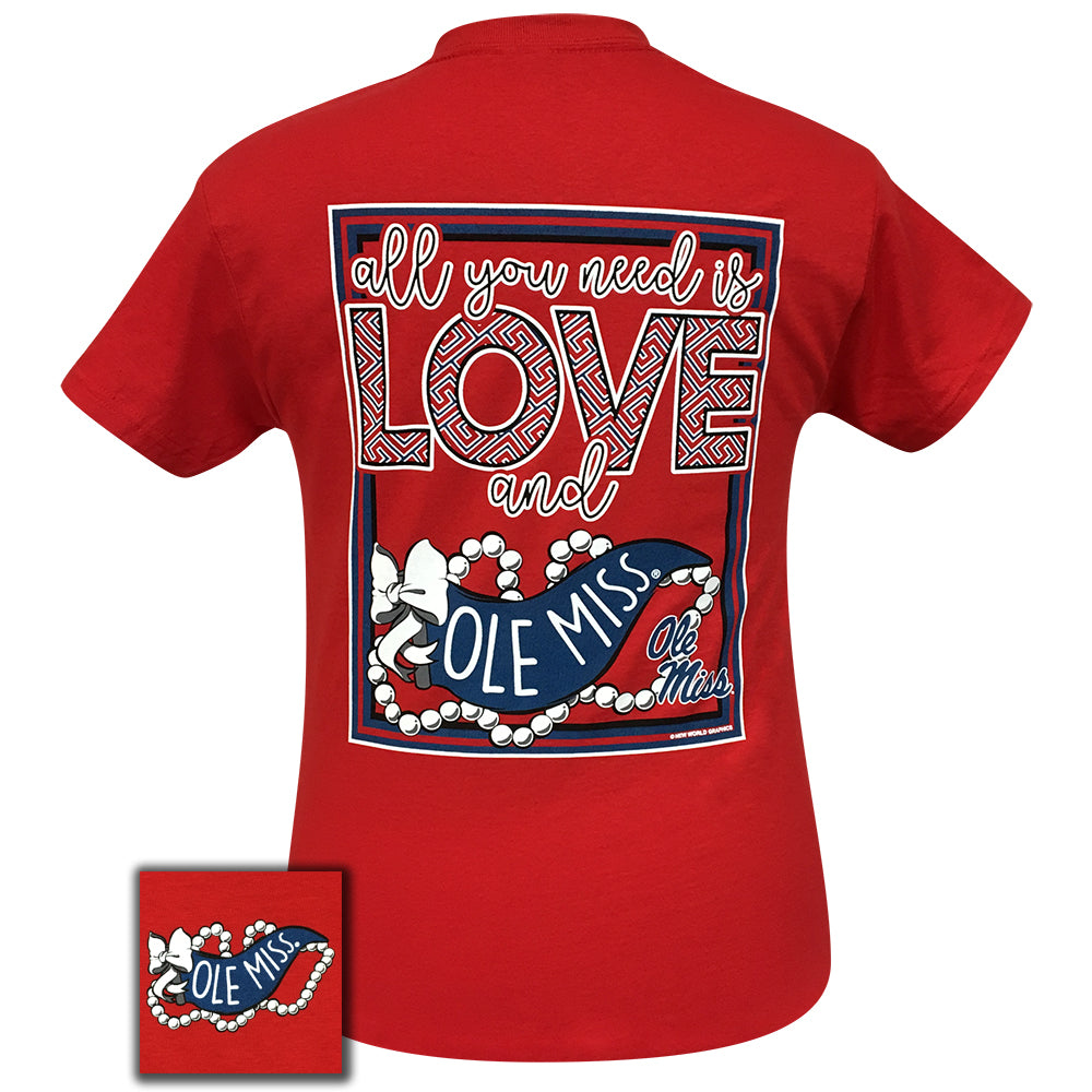 All You Need Is Love and Ole Miss Short Sleeve Red