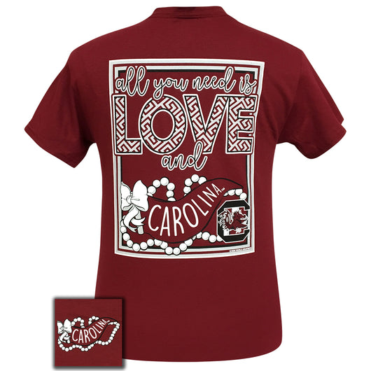 All You Need Is Love and South Carolina Short Sleeve Garnet