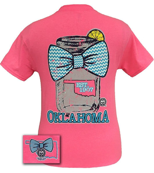 Mason Jar Oklahoma Safety Pink