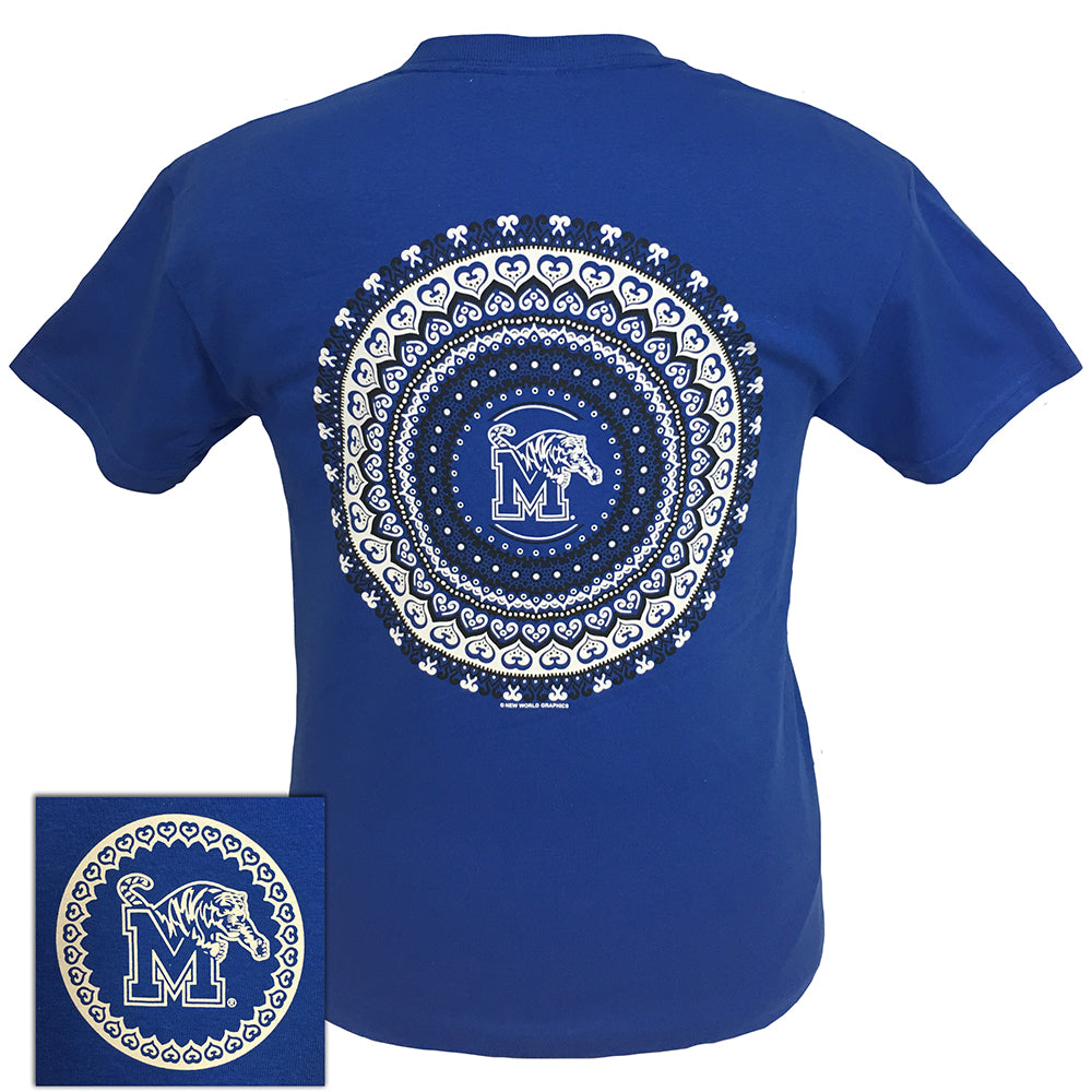 Memphis Mandala Royal Short Sleeve