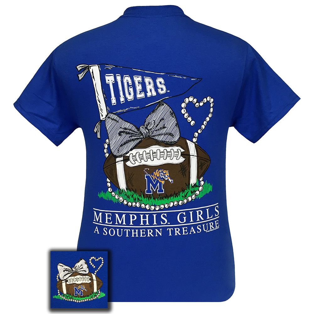 Memphis Treasure Royal Blue Short Sleeve