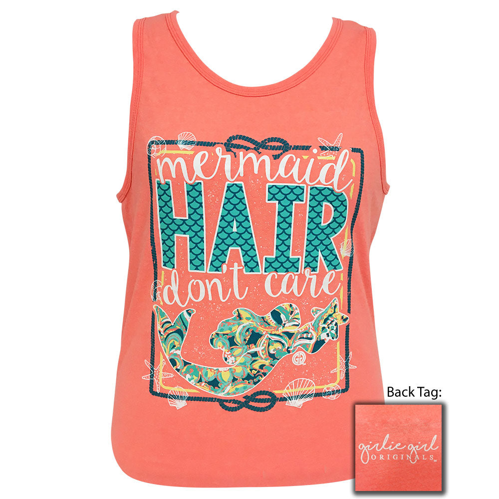Mermaid Hair Neon Peach Tank