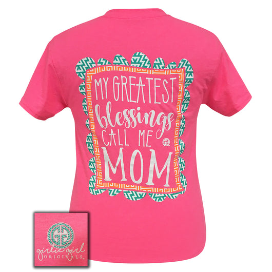 Greatest Blessings Mom Safety Pink Short Sleeve